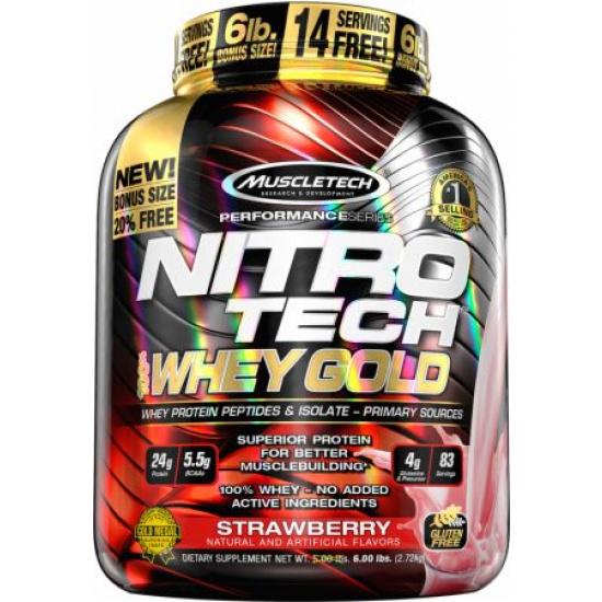 Nitro Tech 100% Whey Gold (5.53 lbs.)