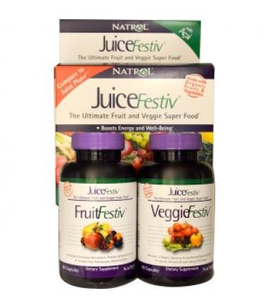 JuiceFestiv (2 Bottles, 60 Capsules each)
