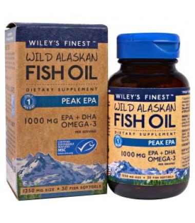 Wild Alaskan Fish Oil (30 Softgels)