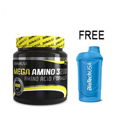 Mega Amino (500 Tabs) + *FREE* Biotech Shaker (600 ml)