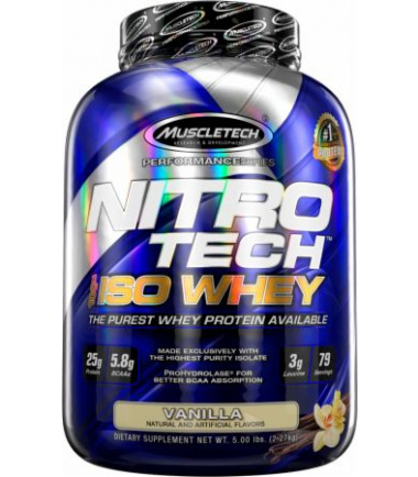 NitroTech 100% Iso Whey (5 lbs.)