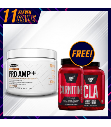 Pro Amp+ (20 servings) *FREE* BSN CLA & Carnitine