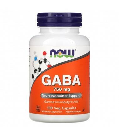 Now Foods GABA 750mg (100's)